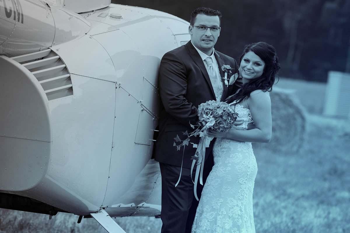 Hubschrauber zur Hochzeit in Hamburg