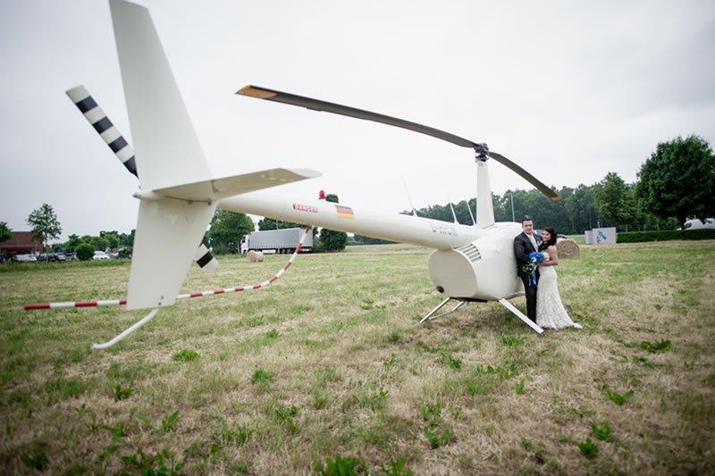 Hubschrauberflug zur Hochzeit in Hamburg