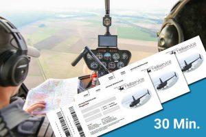 Hubschrauber selber fliegen Ticket
