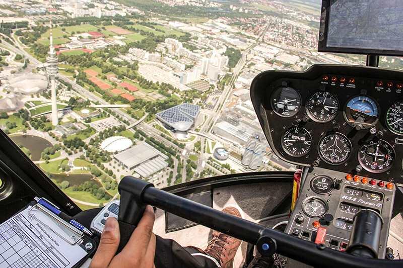 Hubschrauber selberfliegen in Hamburg
