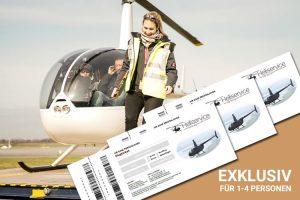 Ticket für exklusiven Hubschrauber Rundflug über Hamburg
